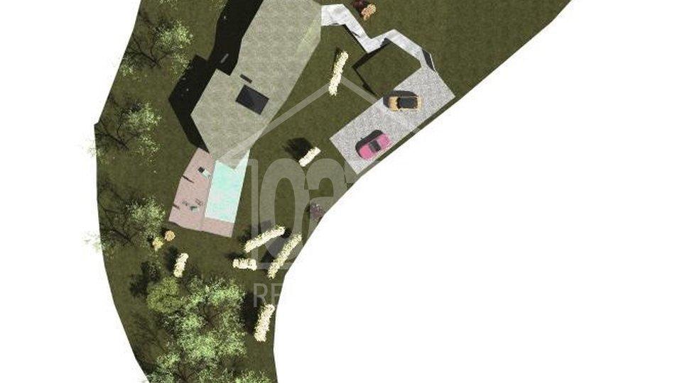 Građevinski teren iznad Opatije za vilu sa bazenom, otvoren pogledom na more