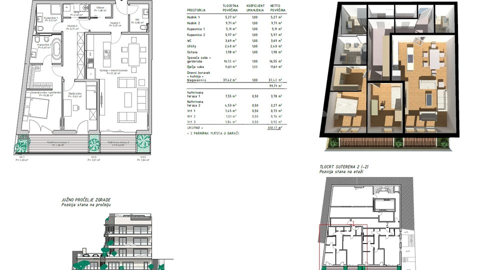 Wohnung, 145 m2, Verkauf, Rijeka - Pećine