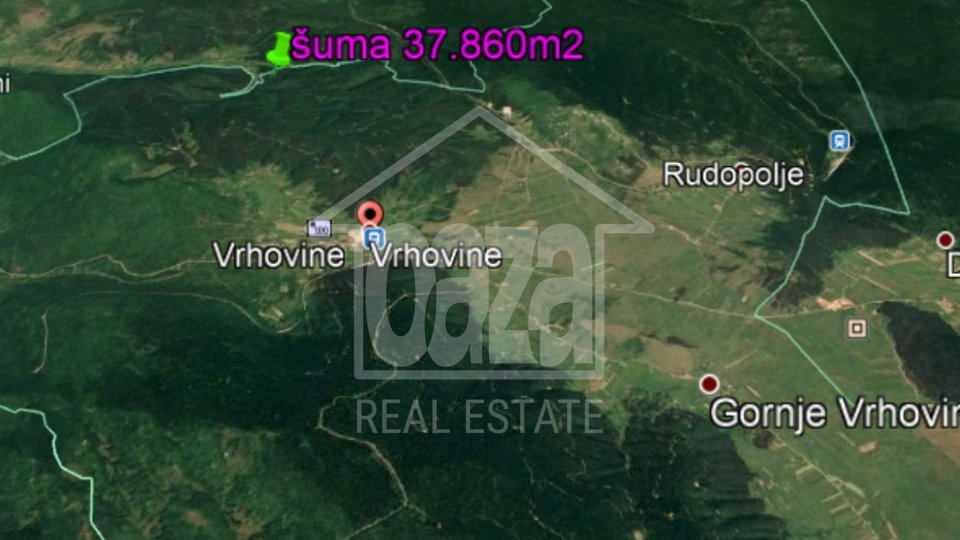 Land, 37860 m2, For Sale, Otočac